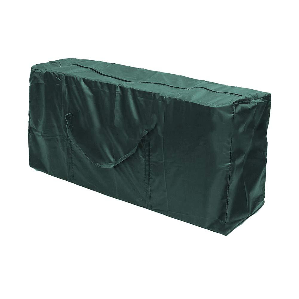 QLING Bolsa Almacenamiento Durable Plegable Funda protecci/ón coj/ín Impermeable Funda Tela Oxford Lavable Patio Muebles Ligeros para Exteriores F/ácil Transportar SNegro