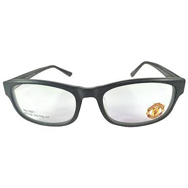 ff1c26ecf Manchester United MUFC Full Rim Rectangular Unisex Spectacle Frames-Black   Amazon.in  Clothing   Accessories