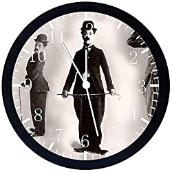 Funny Charlie Chaplin Black Frame Wall Clock E106 Nice For Gift or Office Home Wall Decor 10