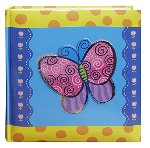 Pioneer Photo Albums 200-Pocket 3-D Butterfly Applique Cover Photo Album, 4 by 6