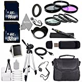 Pro For Canon EOS M 18.0 MP Cam+43mm-52mm Ring Adapter+Multi-Coated 3PC Filter Kit(UV,CPL,FLD)+Close Up Kit+1+2+4+10+Lens Hood+Pro Canon EF-M 22mm f/2 STM Lens+32GB+16GB SD Memory Card+Cleaning Cloth!