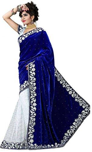 Royal-Ethnic-Wear-Designer-Indian-Bollywood-Partywear-Saree-Blue-sari