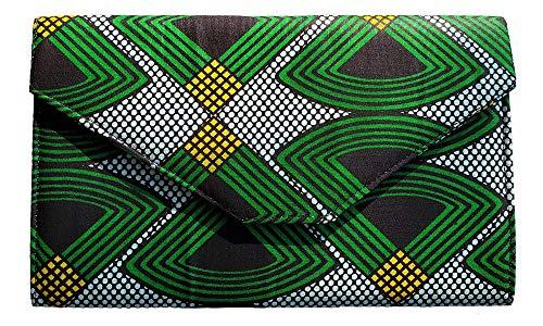 Green Black African Print...