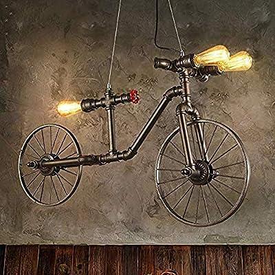 Lámpara Colgante Bicicleta Industrial De Forma Tubo Metálico Con 3 ...