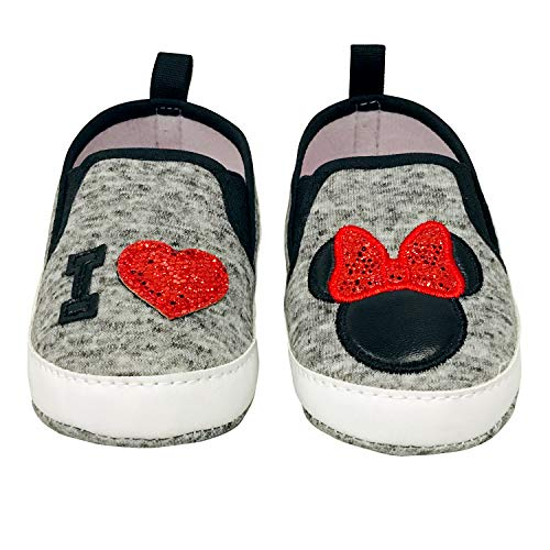 Disney Minnie Mouse Red and Black Infant Shoes - Size 3-6 Months (Disney Shoes Baby Size 5)