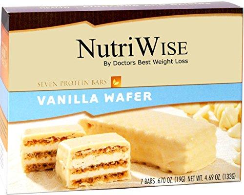 NutriWise - vainilla proteína dieta oblea (7 bares)