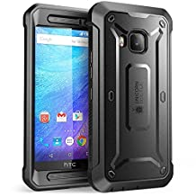 HTC One M9 Case, SUPCASE Full-body Rugged Holster Case with Built-in Screen Protector for HTC One M9 (2015 Release), Unicorn Beetle PRO Series - Retail Package (Black/Black)