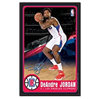 NBA Los Angeles Clippers DeAndre Jordan Wood Sign with Beveled Edge, 11 x 17-Inch