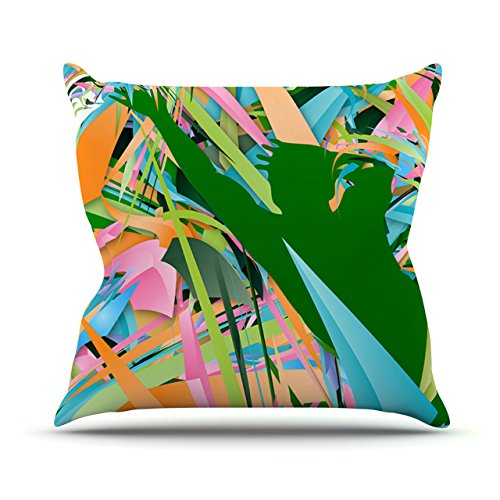 Kess InHouse Danny Ivan Soccer Defense Green Pink Outdoor Throw Pillow, 20-Inch by 20-Inch by Kess InHouse