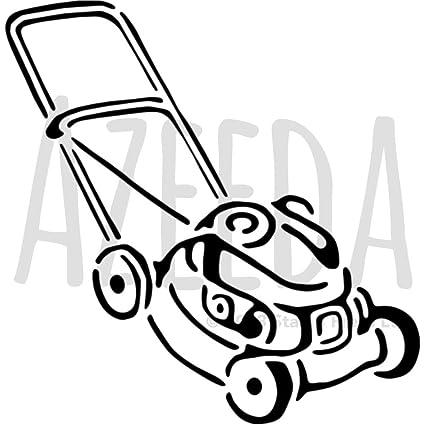 Azeeda A4 Cortacésped Plantilla de Pared / Estarcir ...
