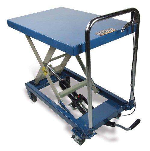 Baileigh B-CART Single Arm Hydraulic Lift Cart, 660 lbs Capacity, 32' Length x 20' Width Tabletop, 30-45/64' Maximum Height