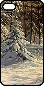 Snowy Country Scene Tinted Rubber Case for Apple iPhone 4 or iPhone 4s