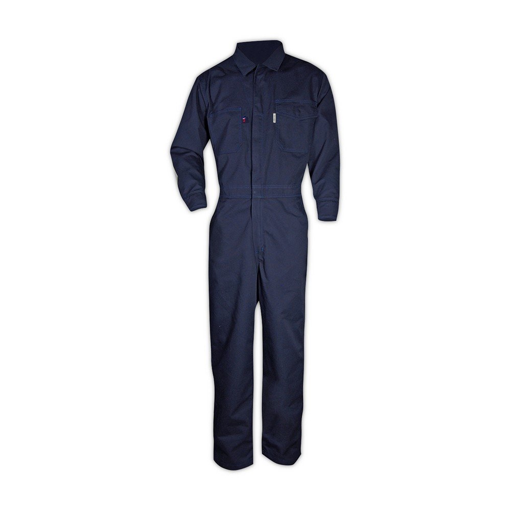 Magid Glove & Safety CBN65DHXXXL CBK65DH/CBN65DH Dual-Hazard 6.5 oz. FR 88/12 Contractor Coveralls, Navy, 3XL, Flame Resistant Cotton Blend by Magid Glove & Safety (Image #2)