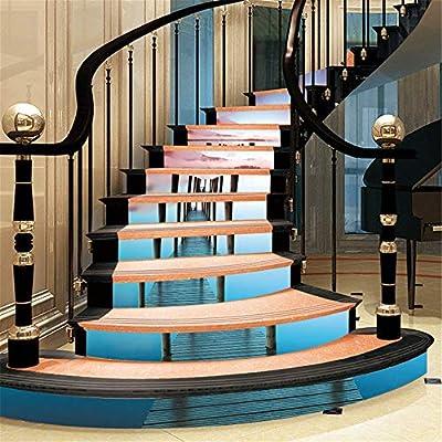 Pegatinas de escalera Agua Superficie Escaleras Pegatinas Decoración Mural Arte Escaleras Pedal Aplique Tile Wall Auto-Sticky Wallpaper Wallpaper autoadhesivo: Amazon.es: Bricolaje y herramientas