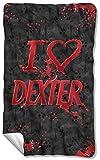 Dexter I Heart Fleece Throw Blanket