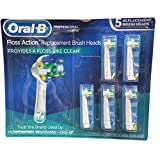 Oral B Floss Action Replacement Brush Heads, 5 Count (Tamaño: 5 Count)