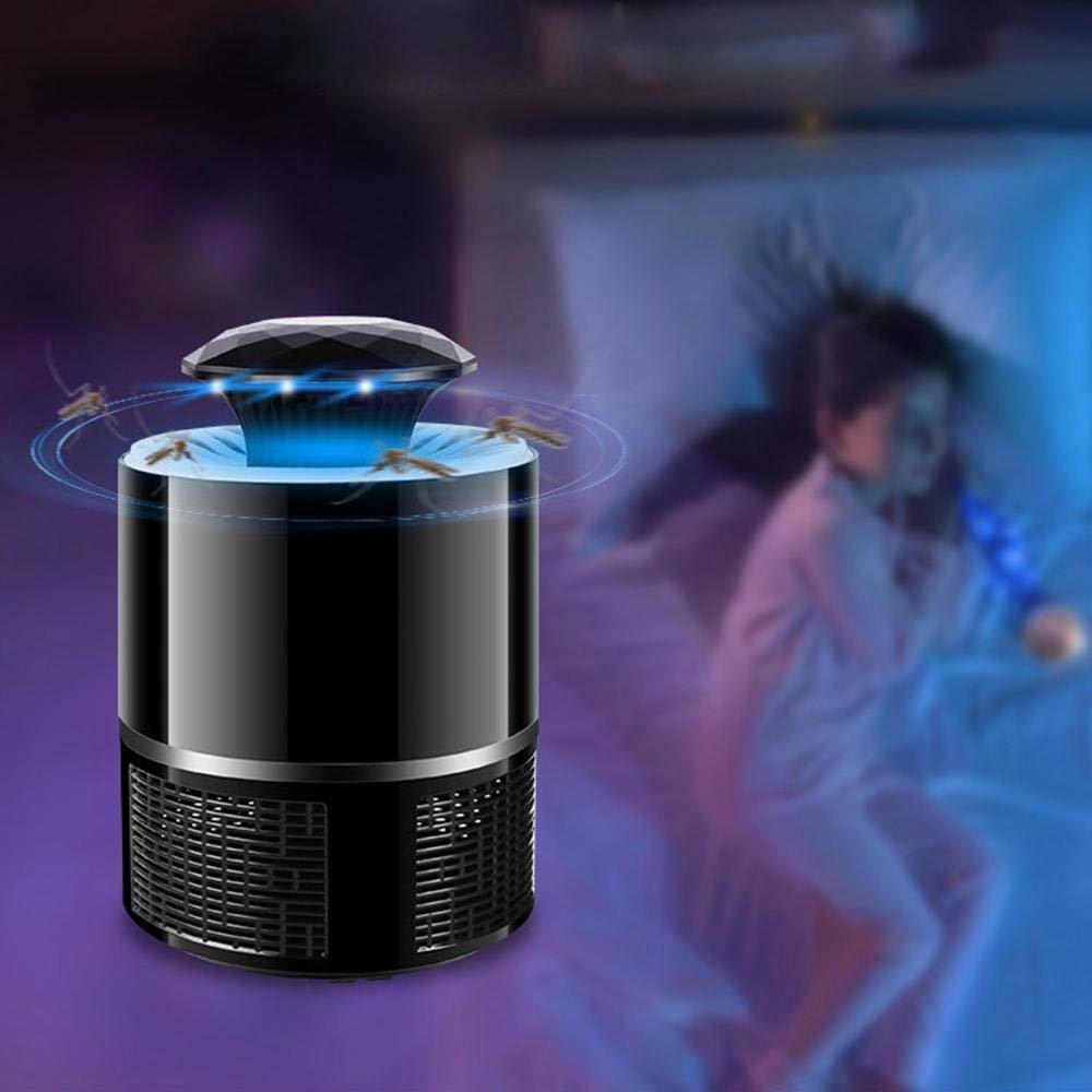 Non-Toxique Aucun rayonnement USB Power LED /électronique Moustique insectifuge Insecte Tueur Moustique Killer Lampe Mouche pi/ège pour la Maison Patio ext/érieur Cour leegoal Bug Zapper