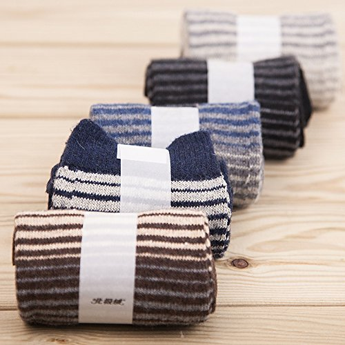 Spesse calze di lana_caldo uomini calze di lana alto extra-cashmere spesso uomini scatola regalo, 5 cartuccia a colori installato, UMCCY