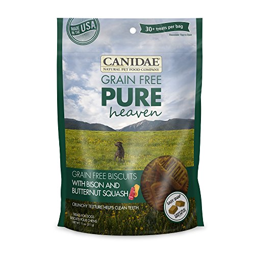 CANIDAE Grain Free PURE Heaven Dog Biscuits with Bison & Butternut Squash, 11 oz.