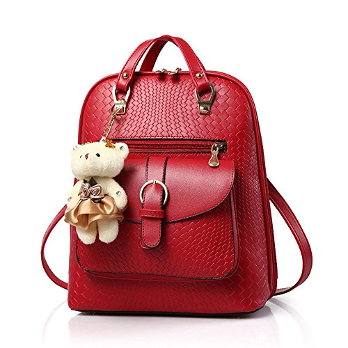 Femmes Avec Washedrucksack Pu Fashion 42 32 Sac Red Onces oz Vents College Bandoulière À Dos SawZqrS