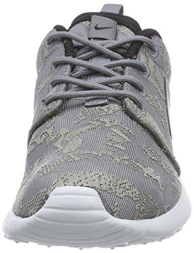Nike Rosherun Print - zapatillas de running de material sintético mujer Gris - Grau (Cool Grey/Black/Pure Platinum)