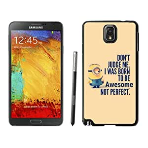 Unique Note 3 Case,Minions Black Phone Case For Samsung Galaxy Note 3 Cover Case