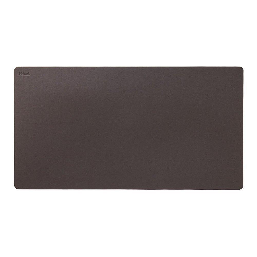 Nekmit Leather Desk Blotter 34''x17'', Brown- New