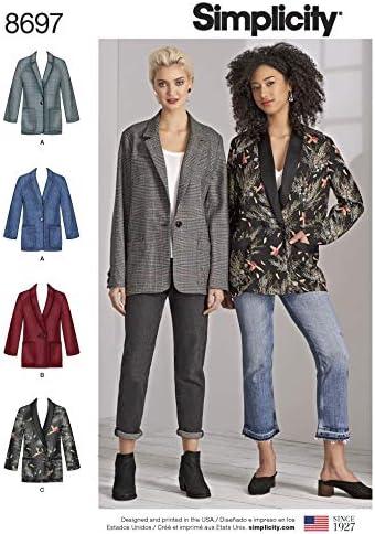 Simplicity 8697 Patron de couture pour vestes et costumes AA