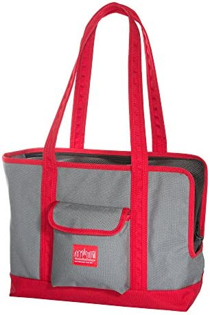 Manhattan Portage Pet Carrier Tote Bag Ver 2, Gray Red, One Size