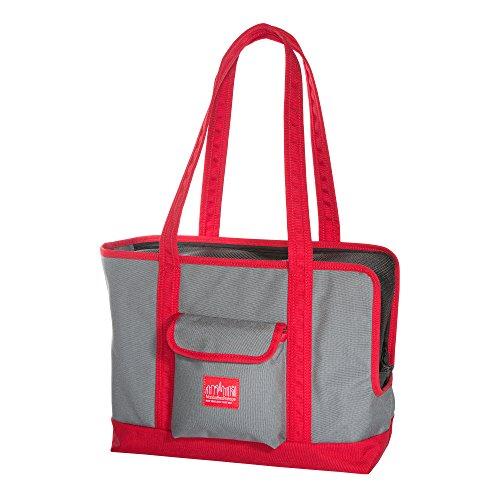Manhattan Portage Pet Carrier Tote Bag Ver 2, Gray Red