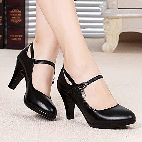 unie Couleur Talons Femmes Chaussures Ms Chaussures Grossier Talon Pour SHOESHAOGE Escarpins 6qpvZSzxw
