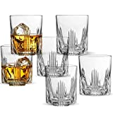 Paksh Novelty Whisky Glass Set, Italian Crafted Whiskey Glasses 6 piece Exquisite Cocktail Glasses For Whiskey, Bourbon, Scotch, Cocktails Alcohol, Etc. | 9.5 Oz. Drinking Glasses (6 Whiskey Glasses)