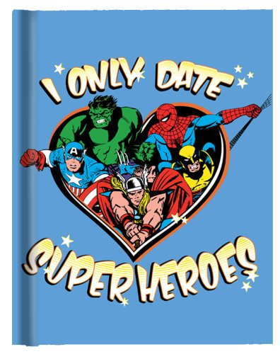 Silver Buffalo MC4150 Marvel Comics I Only Date Superheroes Hard Cover Journal 160 Lined Pages with Ribbon Page Holder, 6 x 8 inches Multicolor Date Buffalo