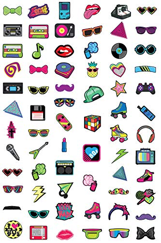 Juvale 80s Theme Photo Booth Props (60 Pack) -