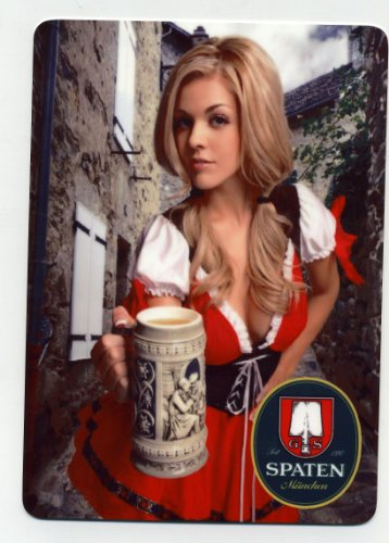 Sexy Spaten beer girl metal sign - Munich Oktoberfest