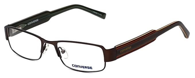 94e43f390f42bf CONVERSE Monture lunettes de vue HERE TO THERE Marron 50MM  Amazon ...