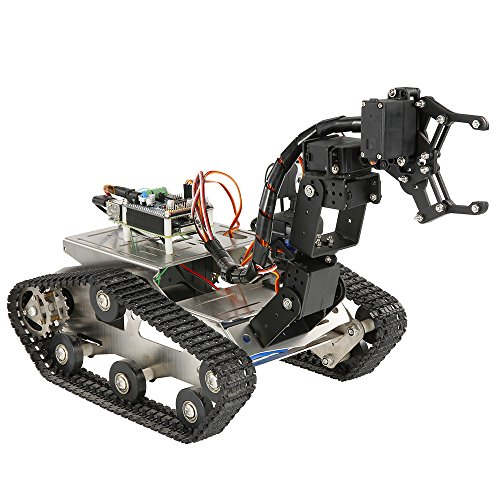 Goolsky TH Robot Wifi Smart DIY Crawler RC Robot Tank with Manipulator 480P Camera PC Mobile Phone Control Education Tool by Goolsky