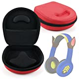Hard 'Shell' EVA Pouch Case (Red) - Compatible with Paw Patrol Chase Kid-Friendly Headphones - by DURAGADGET