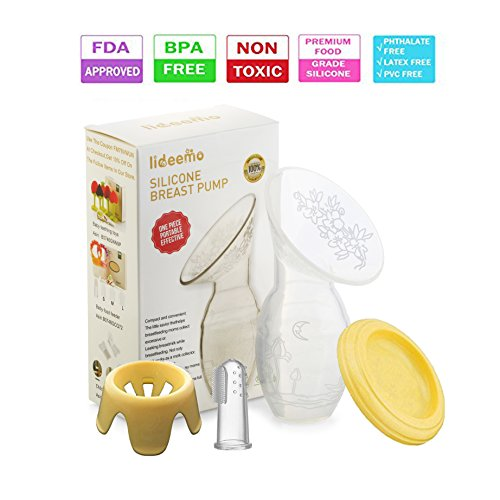 Silicone Manual breast pump for Breastfeeding ,...