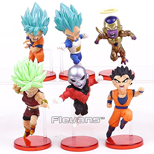 Dragon Ball Super vol.9 Super Saiyan God Super Goku Vegeta Kale Frieza Son Gohan Jiren PVC Figures Toys 6pcs/set with Retail (Pirate Jack Skellington)