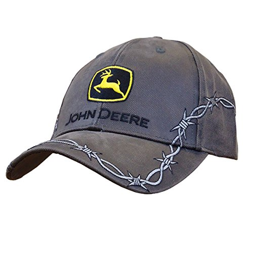 john-deere-mens-waxed-canvas-embroidery-charcoal-one-size