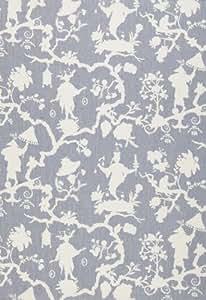 Shantung Silhouette Print Wisteria by F Schumacher Fabric