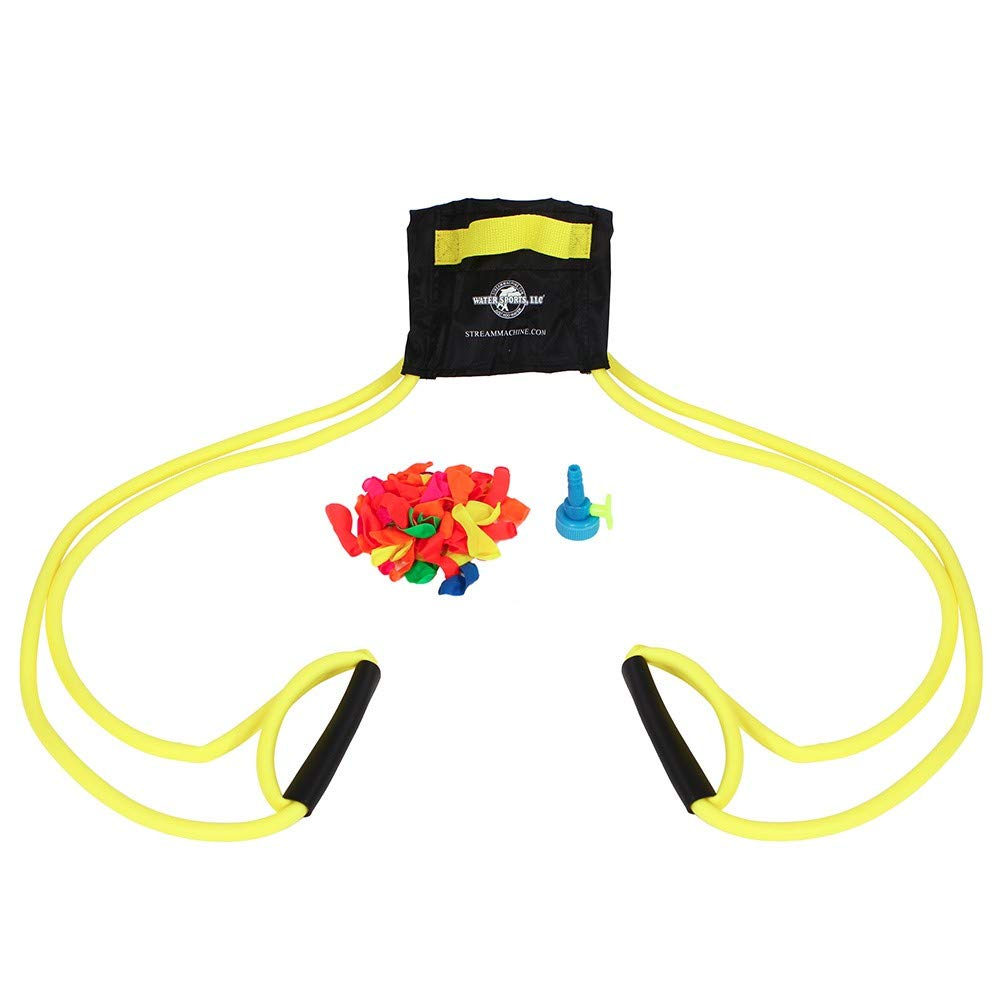 Water Sports Deluxe 3-Person Water Balloon Launcher Kit (Color May Vary) by Water Sports