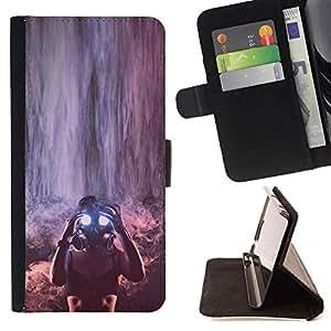 Momo Phone Case / Flip Funda de Cuero Case Cover - Chica;;;;;;;; - Huawei Ascend P8 (Not for P8 Lite)