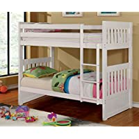 Furniture of America Garvey Twin-Twin Bunk Bed, White