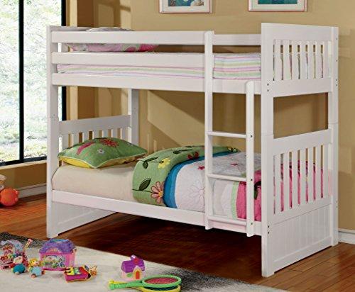 Furniture of America Garvey Twin-Twin Bunk Bed, White