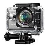 Action Kamera 4k, VicTsing Wifi & 2,0 Zoll 24fps Action Cam Sport Camera Wasserdicht UHD mit Sony IMX117 Exmor-R Bildstabilisierungsfunktion, Optional Weitwinkel-Objektiv, 2 Batterien und Zubehör Kits für Fahrrad Motorrad Tauchen Schwimmen usw