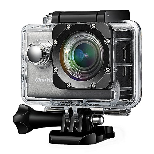 Action Kamera 4k, VicTsing Wifi & 2,0 Zoll 24fps Action Cam Sport Camera Wasserdicht UHD mit Sony IMX117 Exmor-R Bildstabilisierungsfunktion, Optional Weitwinkel-Objektiv, 2 Batterien und Zubehör Kits für Fahrrad Motorrad Tauchen Schwimmen usw