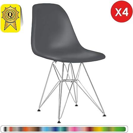 chaise scandinave en inox