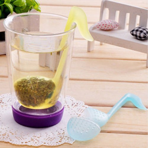 Music Note Convenience Tea Strainer Spoon Teaspoon Infuser Diffuser Filter RS -